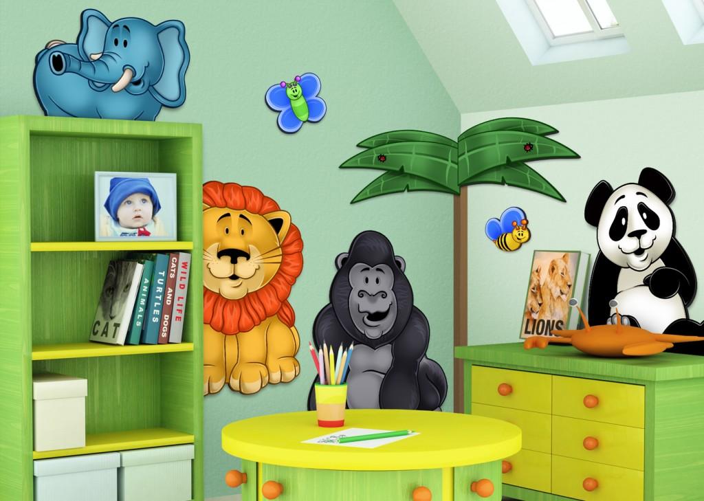 Ideias de adesivos decorativos para quarto de beb for 3d baby room design