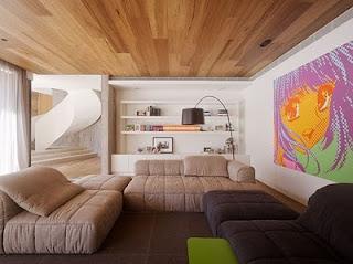 Ideias decoração mobiliário | Decoração tecto madeira carvalho