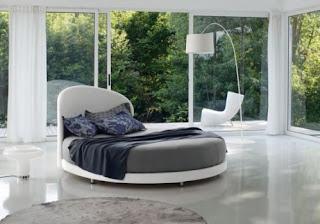 ideias decoracao mobiliario | Cama de casal redonda