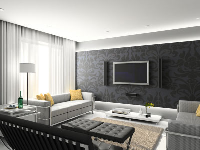 sala contemporanea minimalista