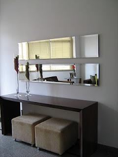 Espelho horizontal