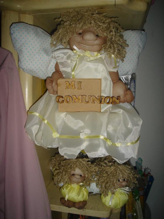 Angelito de comunion para puerta