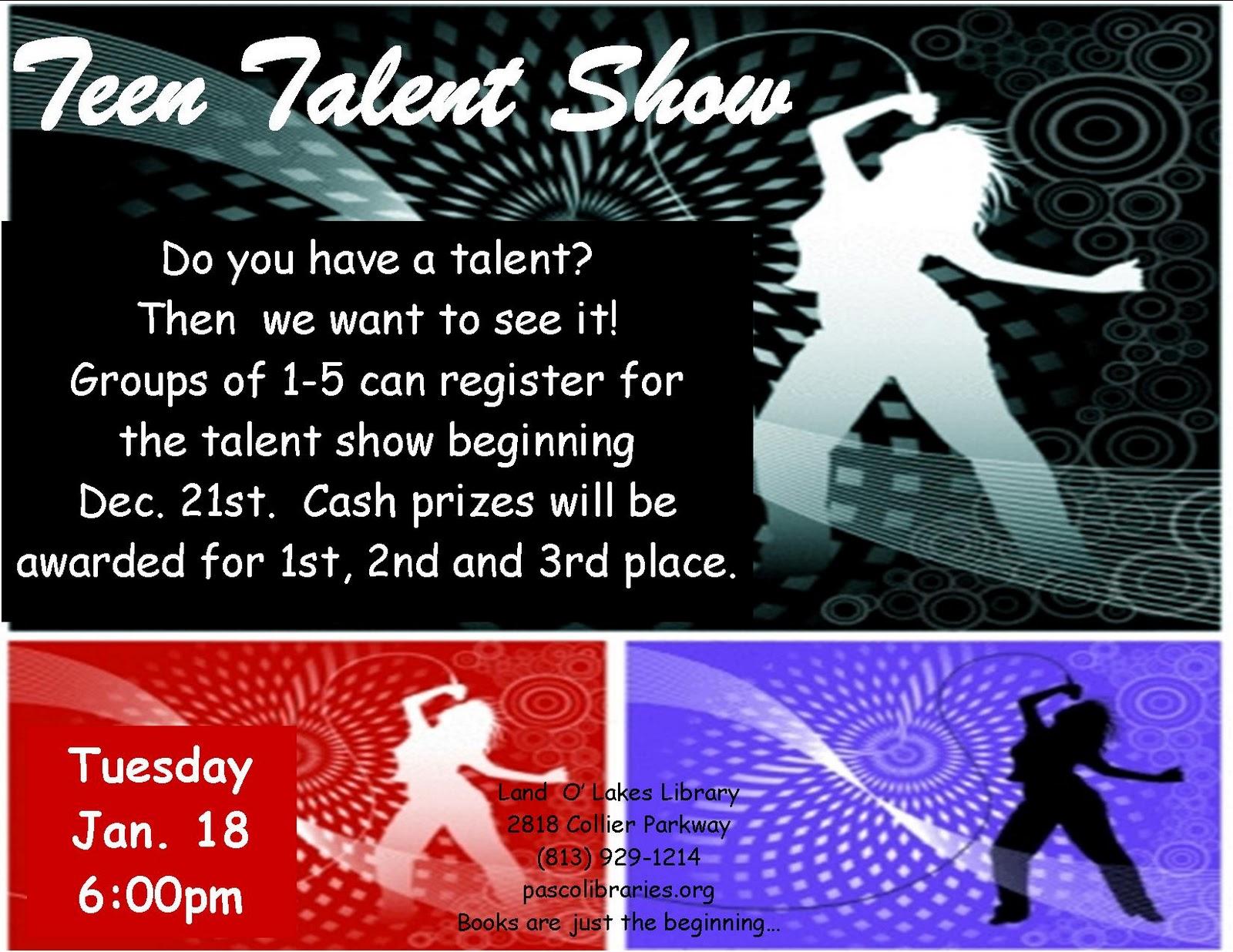 Essay talent show