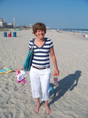 Sue Harootunian at the beach after treatment