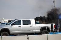 This diesel truck really dumped out the black smoke!