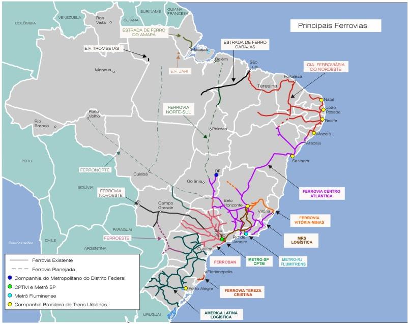 ferroviario brasil: