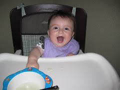 Hannah's first day in the highchair!