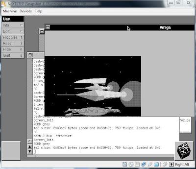 Image of Frontier Elite II on NeXTSTEP 3.3