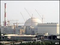La nuklea instalaĵo en Buŝehro, Irano
