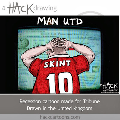 Manchester United FC financial results 2010 cartoon