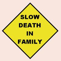 Slow Death Traffic Sign