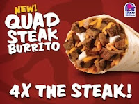 Taco Bell Quad Steak Burrito