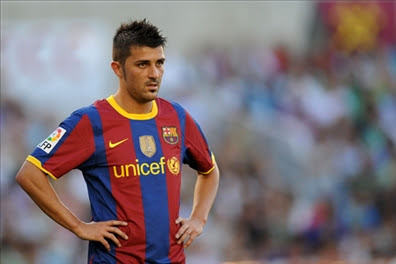david villa on field