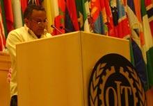 Dirigentes sindicales de Perú y Venezuela condenan genocidio  en la OIT