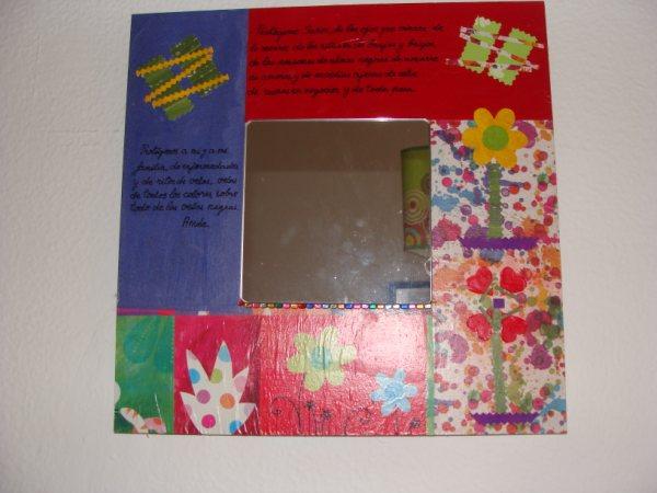 El olor de c diz flores marcos espejos cofres fimo - Espejos para manualidades ...