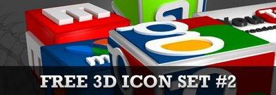 3D Social media icon set2