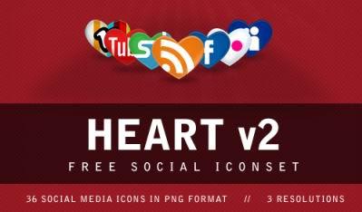 Heart V2 Social Media Icons