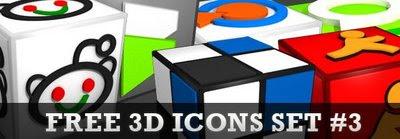 3D Social media icon set3