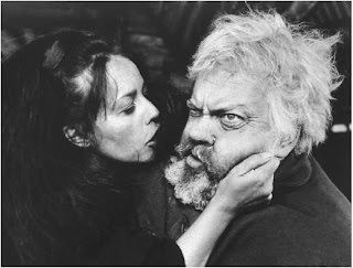 Orson Welles as Falstaff with Jeanne Moreau as Doll Tearsheet