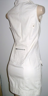 Vestido militar creme da chiquérrima AHA, lindo...põe uma básica e vai de bota no Inverno! Fica Lindo!