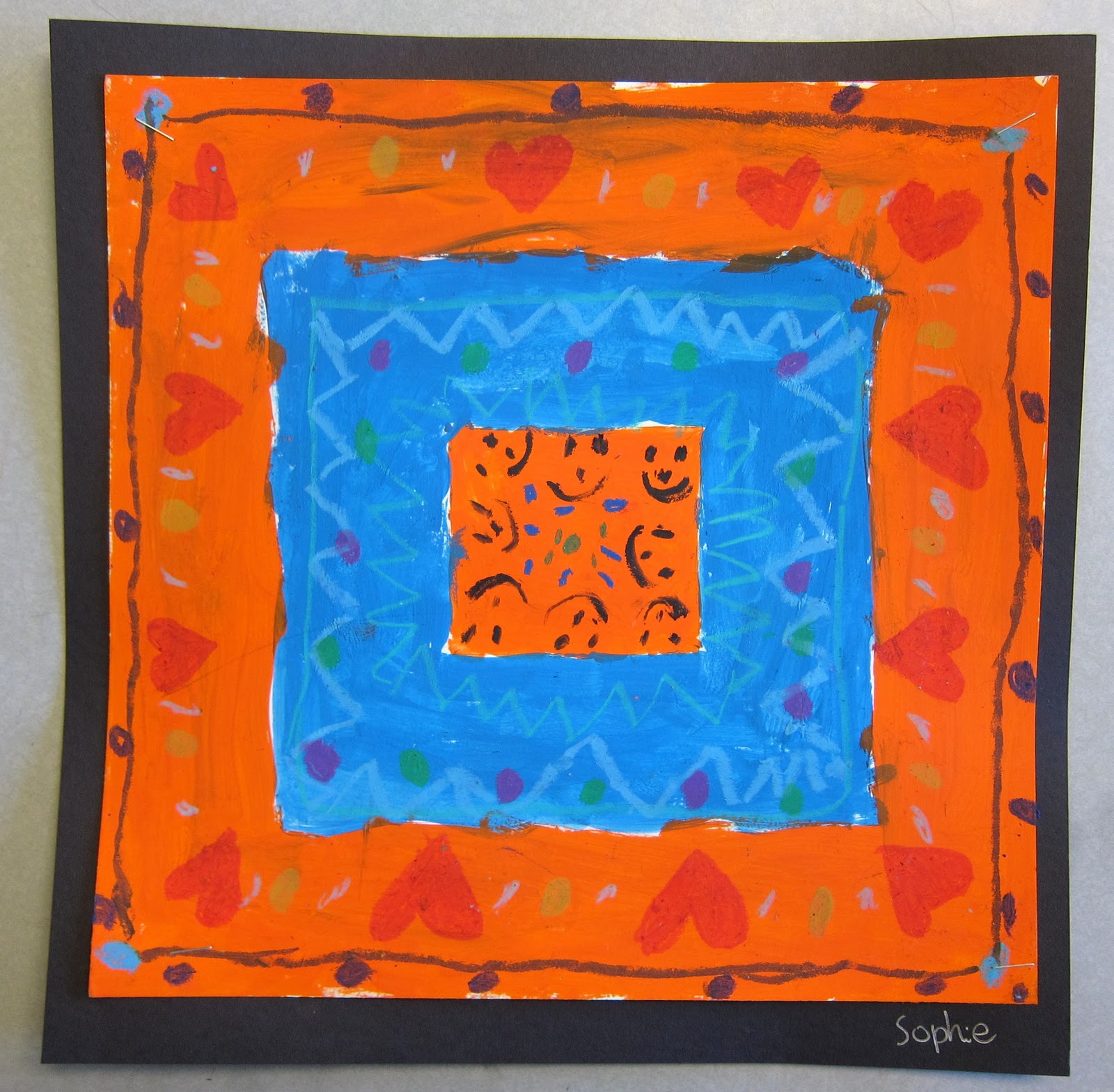 Complementary Color Quilt Paintings