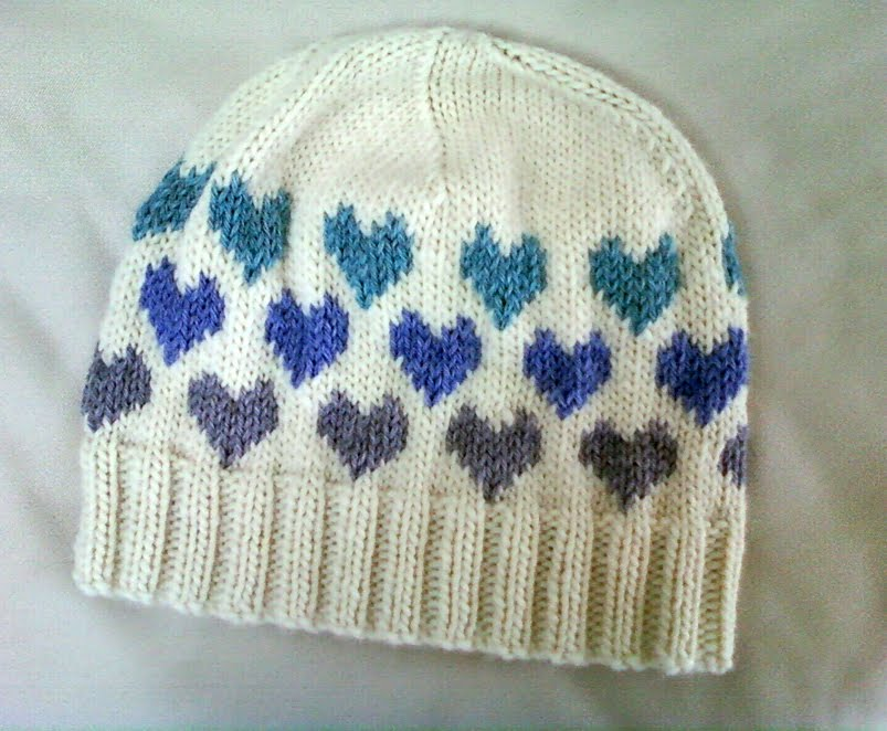 Knitting Patterns For Hats : LuluKnits: I Heart Knitting Hat