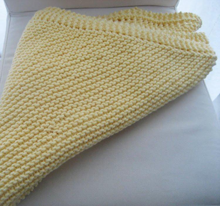 LuluKnits: Diagonal Garter Stitch Blanket