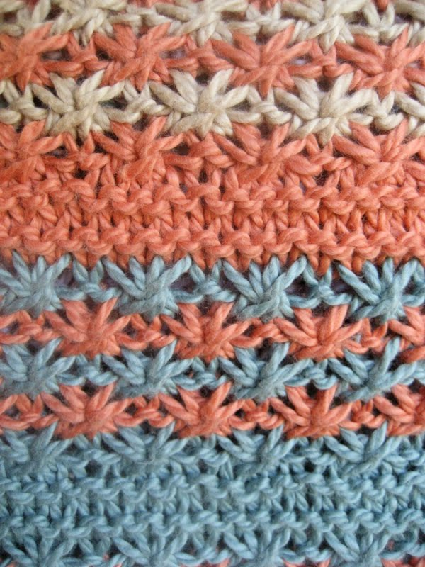 Luluknits Daisy Stripe Baby Blanket