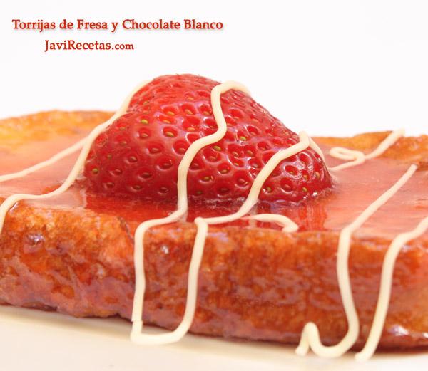Baño Blanco De Azucar Receta: hacer Torrijas de Fresa y Chocolate Blanco (unas 8 o 10 torrijas