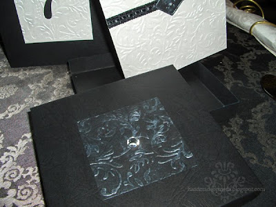 black and silver baroque invitation