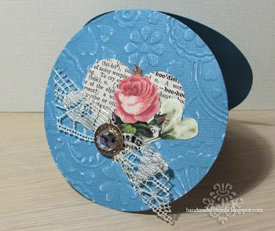 blue vintage valentine