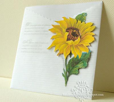 Sunflower Wedding Invitation Invitatie de nunta cu floarea soarelui