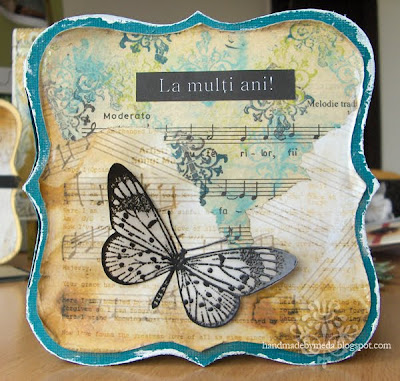 butterfly music birthday card