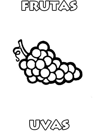 Colorear es Divertido Dibujos de Frutas para Colorear  Uvas