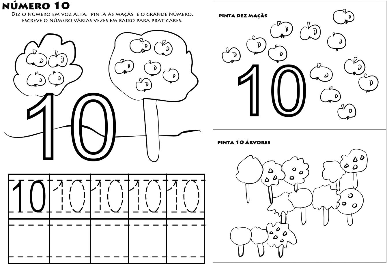 enchanting numero 10 para colorir aprender a escrever numeros ensign