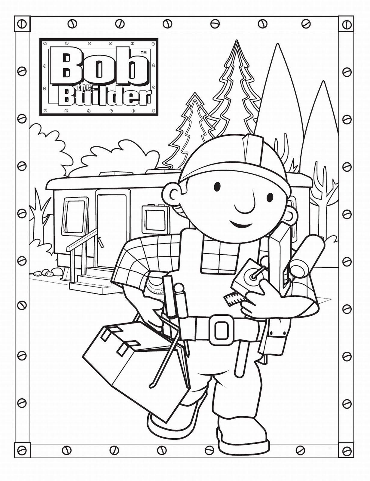 Desenhos para imprimir bob o construtor para colorir for Bob the builder coloring pages printable
