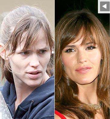 Hollywood Stars Jennifer Garner sans maquillage