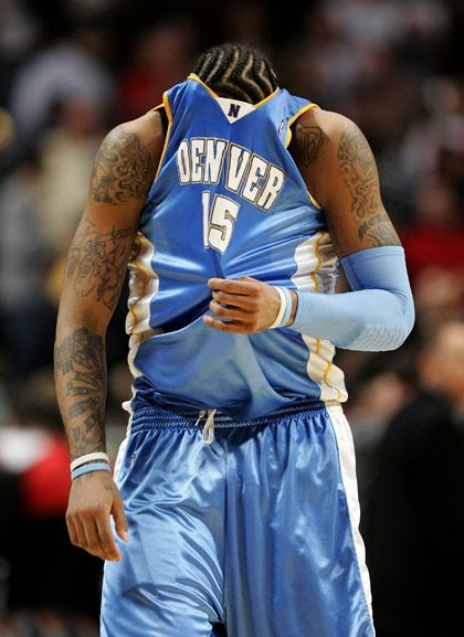 TATTOO U.: The Denver Nuggets' star playmaker, Carmelo Anthony,