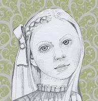 pencil sketch of Alice - Alice in Wonderland