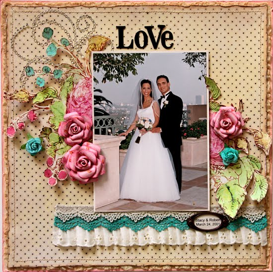 Stacy Cohen Prima Layout And Paper Rose Flower Tutorial