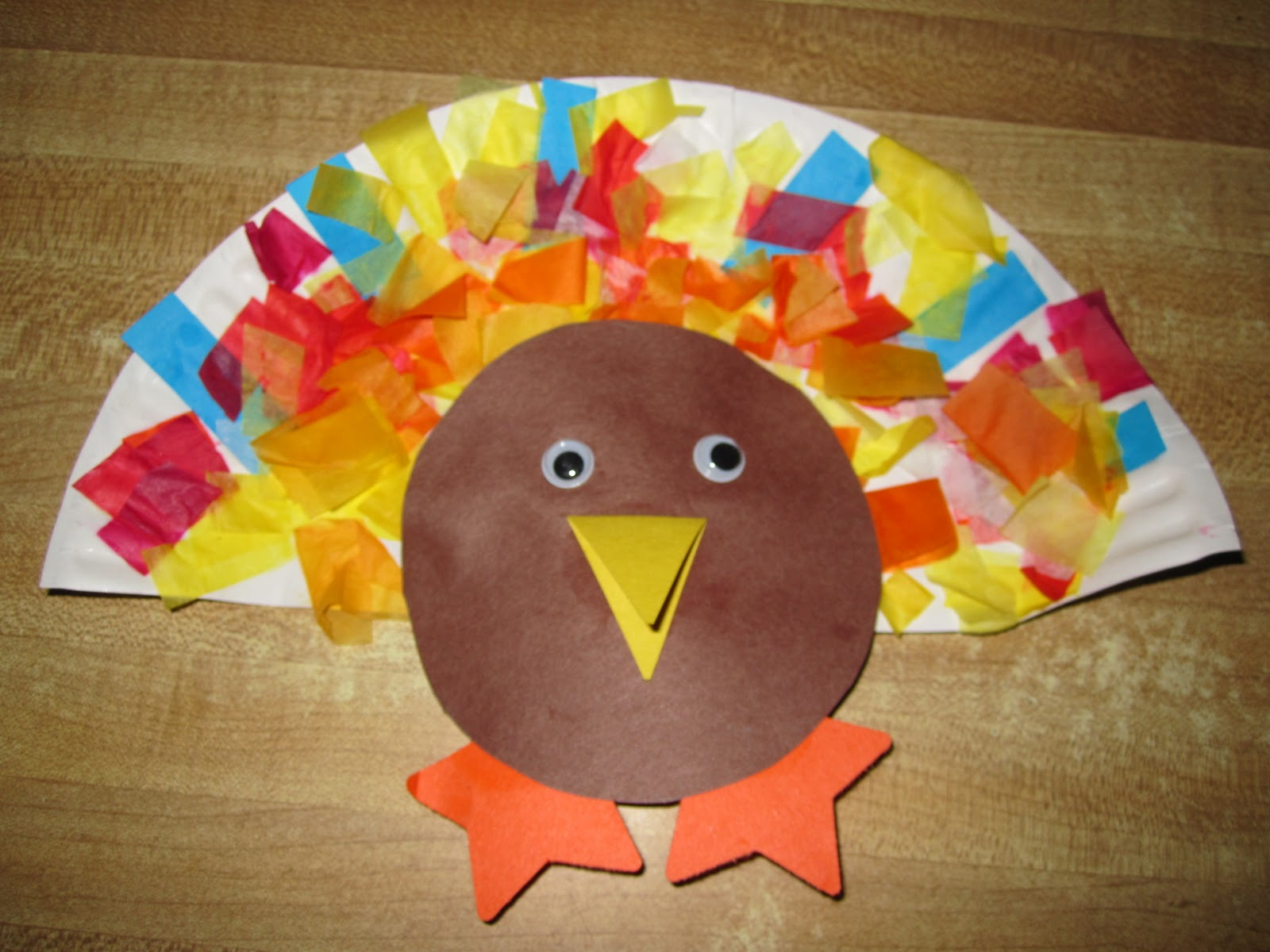 Paper Plate Turkey & Some of This \u0026 Some of That: Paper Plate Turkey