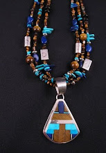 Treasure Necklace & Inlaid Pendant by Daniel Coriz