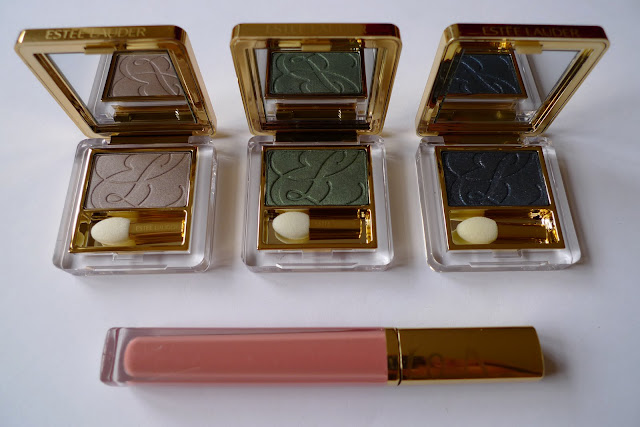 Estée Lauder Pure Color eyeshadows and lipgloss