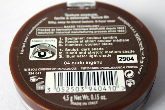 Bourjois Smoky Eyes nude ingénu instructions