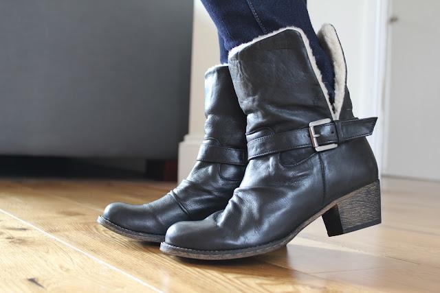 Marta Jonsson wool-lined foldover cuff boots