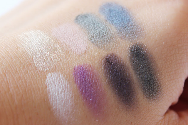 Avon Luxe Lace Collection eyeshadow swatches
