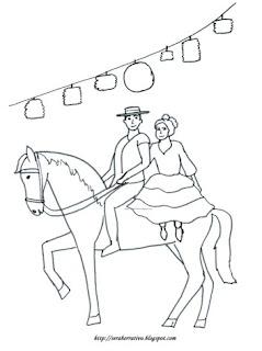 pareja caballo feria abril Sevilla