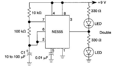 rangkaian yang dimaksud adalah rangkaian flashers dalam rangkaian ini