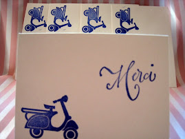 Vespa Merci Greeting Cards