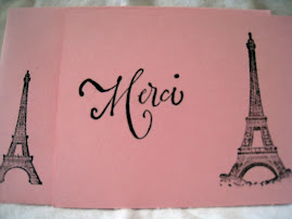 Merci Pink French Thank You Cards